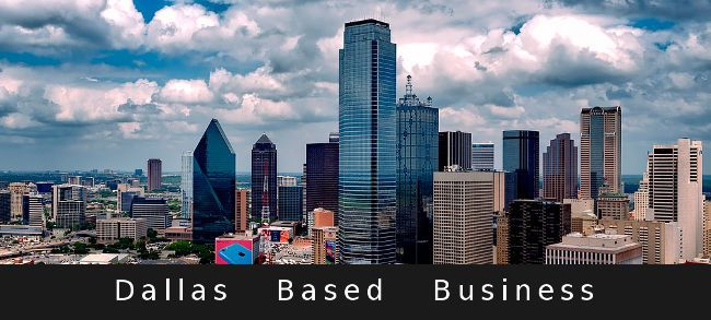 Dallas Skyline with tall buildings